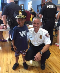 Watervliet Police at ice cream social